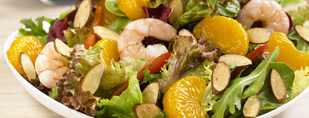 Mandarin and Almond Shrimp Salad