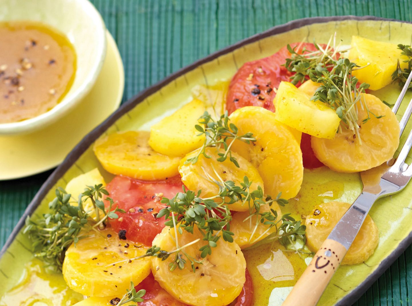Plantain and Tomato Salad